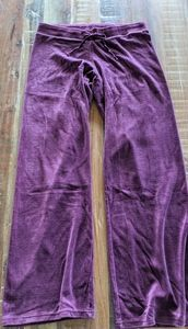 Juicy Couture Lounge Pants Burgundy Velour Size M